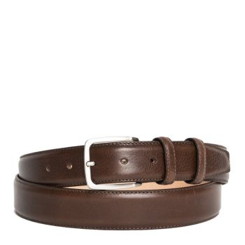 Cintura Uomo in Pelle Marrone 3,5cm - Made in Italy