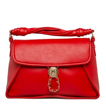 Borsa Donna a Mano LIU JO con Catena Gioiello colore True Red