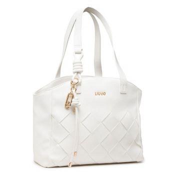 Borsa Donna Shopping a Spalla LIU JO con Intreccio colore Bianco