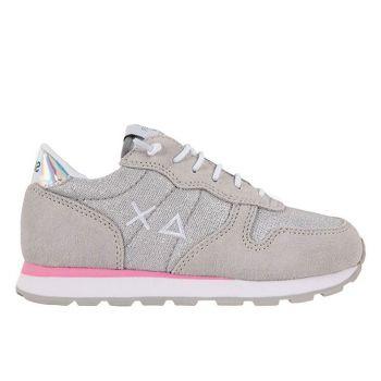 Scarpe Bambina SUN 68 Sneakers Girl's Ally Glitter Grigio Chiaro