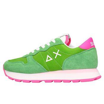 Scarpe Donna Sun68 Sneakers Ally Solid Nylon Colore Verde Prato