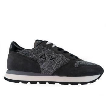 Scarpe Donna Sun68 Sneakers Ally Thin Glitter Grigio Scuro Z40205