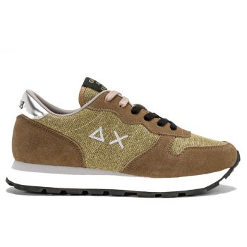 Scarpe Donna Sun68 Sneakers Ally Thin Glitter Colore Oro - Z41203