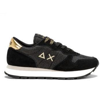 Scarpe Donna Sun68 Sneakers Ally Thin Glitter Colore Nero - Z41203