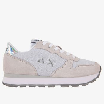 Scarpe Donna Sun68 Sneakers Ally Thin Glitter Bianche