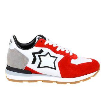 Scarpe Uomo ATLANTIC STARS Sneakers Linea Antares Colore Bianco e Rosso