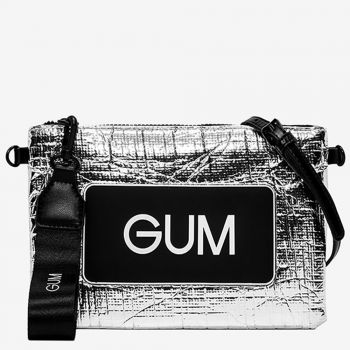 Pochette Donna GUM Numbers Media colore Argento - Bianco