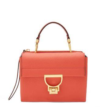 Borsa Donna a Mano COCCINELLE in Pelle Linea Arlettis Mini colore Coral Red
