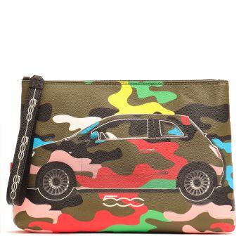 Pochette a Mano GABS Atlanta L Stampa Camaleonti Camouflage Multicolor