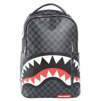 Zaino Uomo SPRAYGROUND stampa Grey Checkered Sharks in Paris