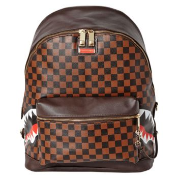 Zaino Uomo SPRAYGROUND stampa Side Sharks in Paris Brown