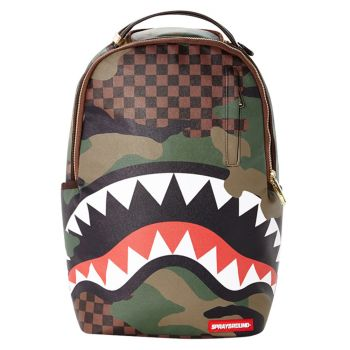 Zaino Uomo SPRAYGROUND stampa Checkered Camo Shark