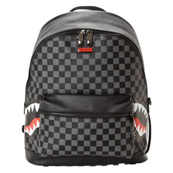 Zaino Uomo SPRAYGROUND stampa Side Sharks in Paris Grey