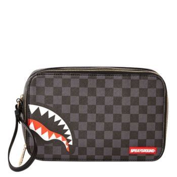 Necessaire SPRAYGROUND stampa Sharks in Paris Grey