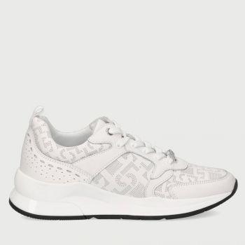 Scarpe Donna LIU JO Sneakers in Pelle Bianca con Logo Traforato