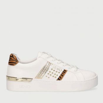 Scarpe Donna LIU JO Sneakers Platform Bianche con Dettaglio Zebrato
