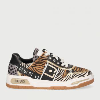 Scarpe Donna LIU JO Sneakers con Stampa Animalier con Logo Monogram