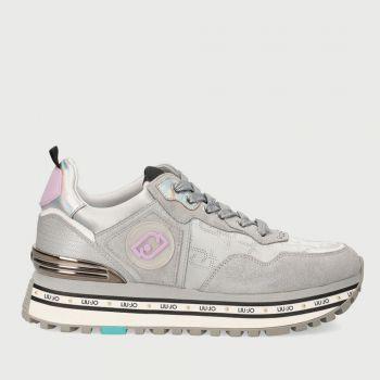 Scarpe Donna LIU JO Sneakers in Glossy Suede colore Silver