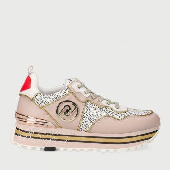 Scarpe Donna LIU JO Sneakers in Pelle stampa Animalier Rosa e Bianco