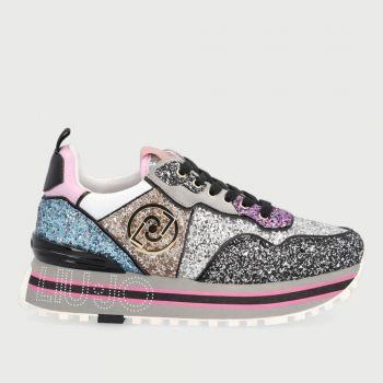 Scarpe Donna LIU JO Sneakers Platform Glitter Multicolor con Logo