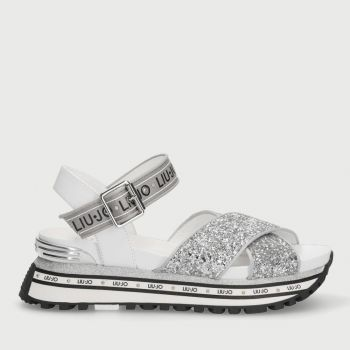 Scarpe Donna LIU JO Sandali Platform Glitter Argento