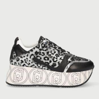 Scarpe Donna LIU JO Sneakers Maxi Platform effetto Cavallino Animalier Argento