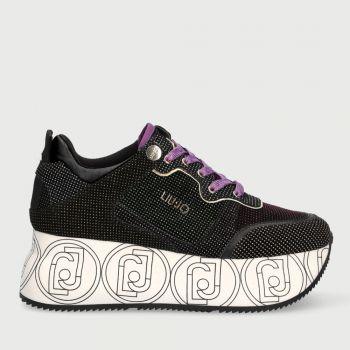 Scarpe Donna LIU JO Sneakers Maxi Platform in Suede con Micro Glitter Multicolor