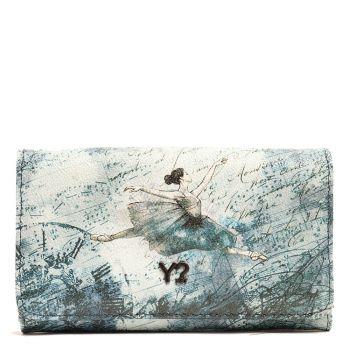 Portafoglio Donna con Bottone Y NOT BAL-347 Blu