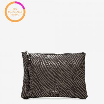 Pochette Donna a Mano GUM Numbers Media linea Rebuild colore Zebra Nero - Taupe