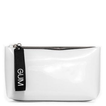 Pochette Donna a Mano GUM linea Capital Gum colore Vernice White