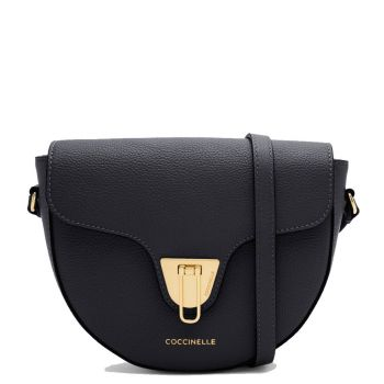 COCCINELLE Beat Soft Line – Mini Black Leather Shoulder Bag Made In Italy