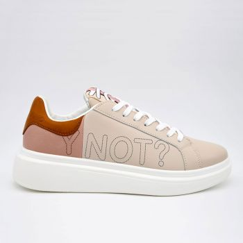 Scarpe Donna Y Not Sneakers Colore Beige - Pink