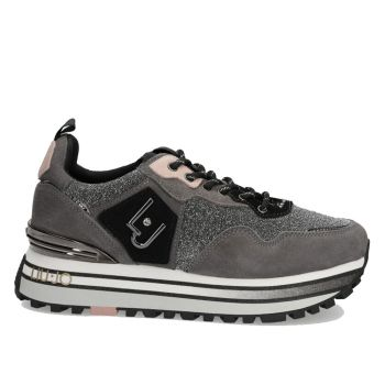 Scarpe Donna LIU JO Sneakers Platform in Suede e Lurex Grigio