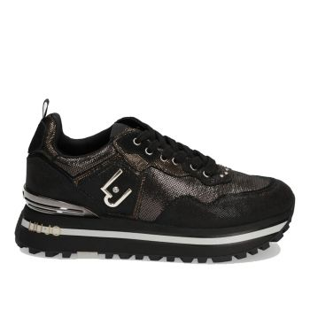 Scarpe Donna LIU JO Sneakers Platform Effetto Spalmato Nero