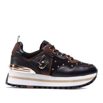 Scarpe Donna LIU JO Sneakers Nere Matelassè con Micro Borchie