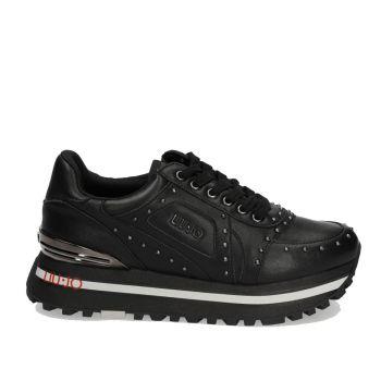 Scarpe Donna LIU JO Sneakers in Pelle Nera con Borchie