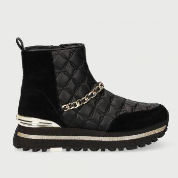 Scarpe Donna LIU JO Sneakers a Stivaletto con Catena Gioiello Nero