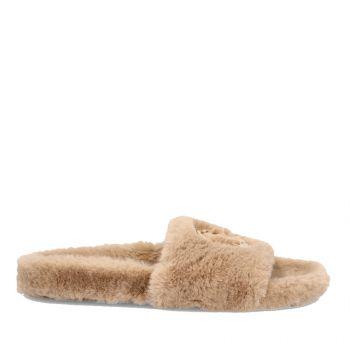 Ciabatte Donna LIU JO in Tessuto Eco Fur colore Tan