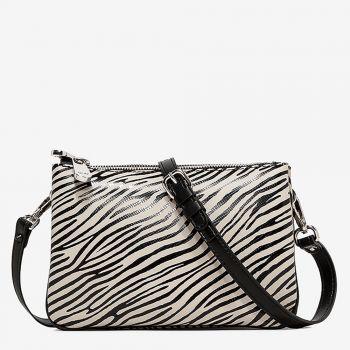 Borsa Donna con Tracolla GUM Two linea Redbuild stampa Animalier Zebra