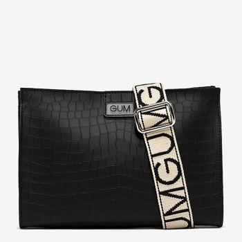 Borsa Donna a Tracolla GUM Seven Media linea Cocco colore Nero