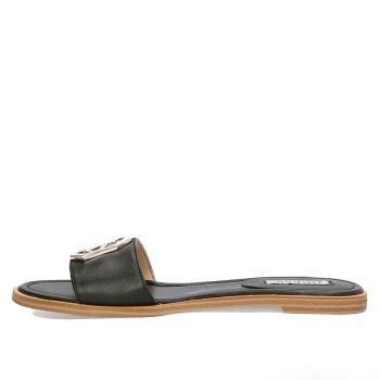 GUESS Botali Line – Black Leather Sandals
