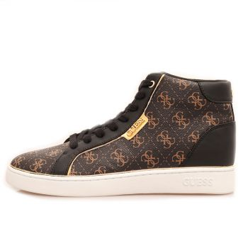 Scarpe Sneakers Alte Donna GUESS linea Brina colore Brown Multi