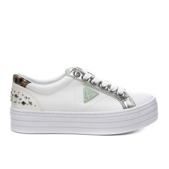 Scarpe Donna GUESS Sneakers White -Silver Linea Brodey