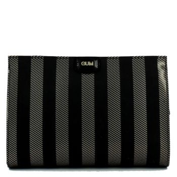 Clutch Donna a Mano Media con Tracolla GUM linea Seven stampa Soft Stripe colore Black-Gold