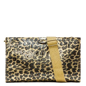 Clutch Donna a Mano Media con Tracolla GUM linea Seven colore Leo Gold