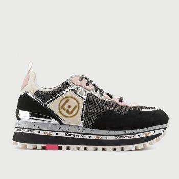 Scarpe Donna LIU JO Sneakers Platform in Suede Black
