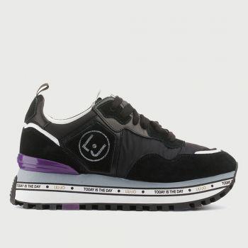 Scarpe Donna LIU JO Sneakers Platform in Suede e Nylon Black