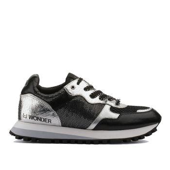 Scarpe Donna LIU JO Sneakers con Inserti Metalizzati Black