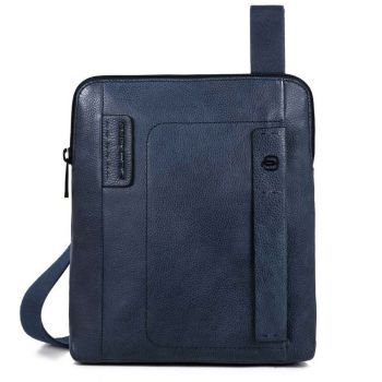 "Borsello Piquadro in Pelle Blu Porta iPad 9,7"" - CA1358P15S Linea P15Plus"