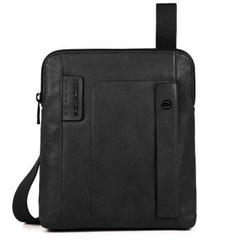 """Borsello Piquadro in Pelle Nera Porta iPad 9,7"""" - CA1358P15S Linea P15Plus"""